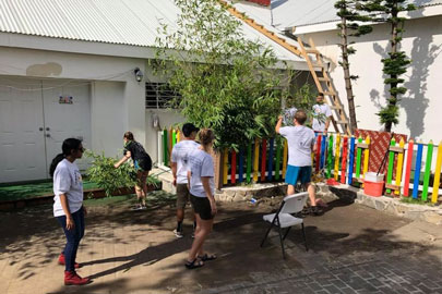 AUC medical students repair IDEAL Preschool backyard play area