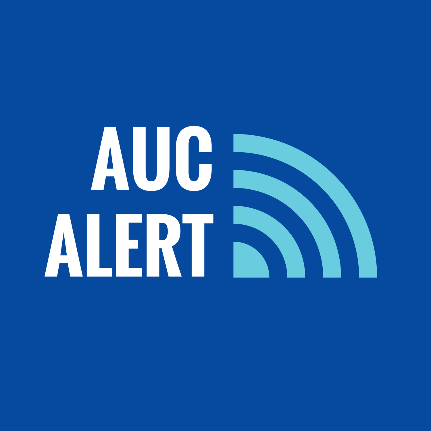 "Graphic text of ""AUC Alert"""