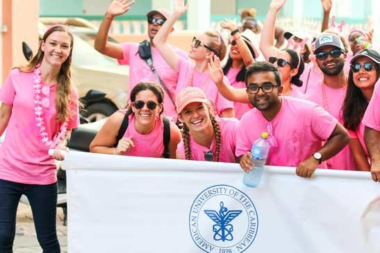 AUC students march in 2019 Pink Parade